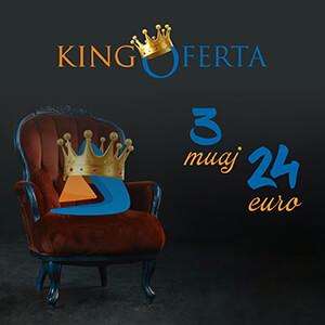 King Oferta 3 muaj 24 EUR - DiasporaTV
